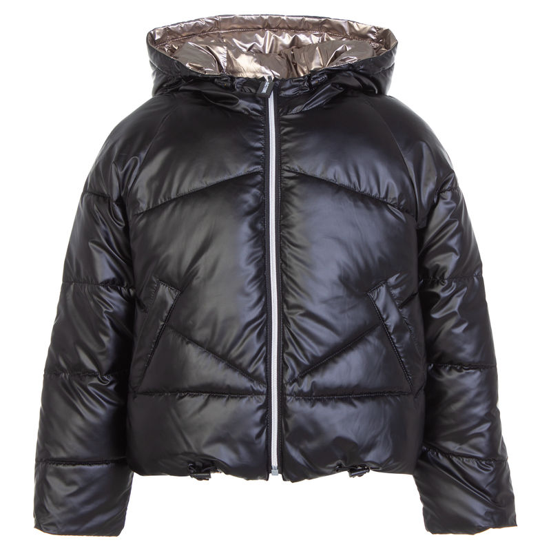 Куртка двусторонняя черная-бронза